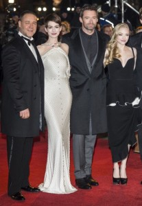 Russel Crowe, Anne Hathaway, Hugh Jackman and Amanda Seyfried at the premiere
