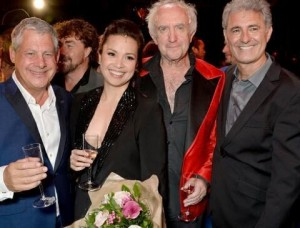 Cameron Mackintosh, Lea Salonga, Jonathan Pryce and Simon Bowman