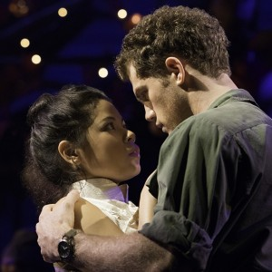 Eva Noblezada as Kim and Alistair Brammer as Chris